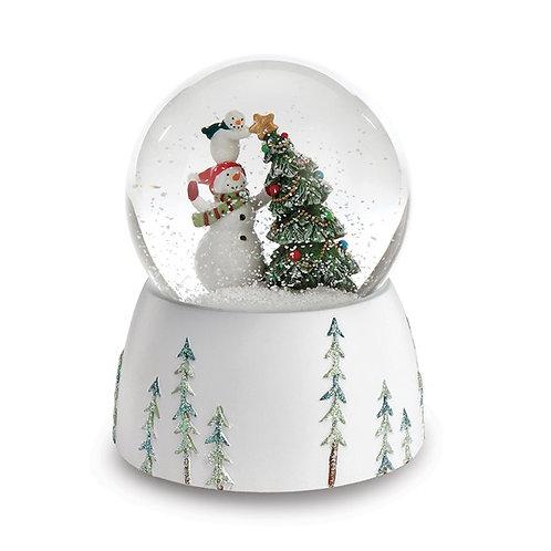 Snowmen Tree Snow Globe