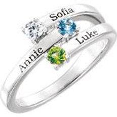 Engraved Name Family Ring
