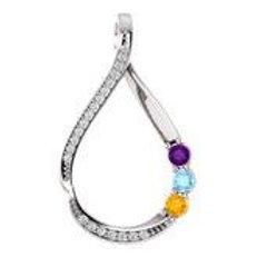 Family Diamond Drop Necklace