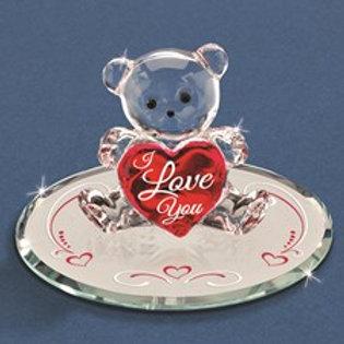Teddy Crystal Figurine