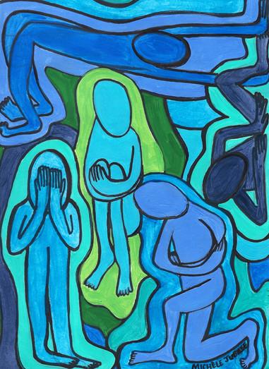 acrylic painting, 2020