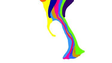 Still Frames from Missy D Paint Animation