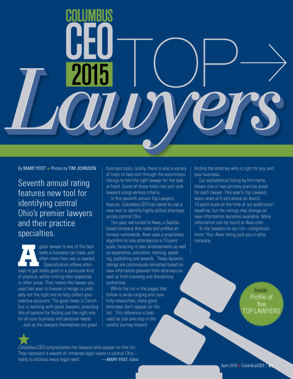 Columbus Top Lawyers 2015