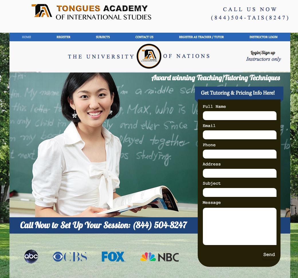 WWW.TONGUESACADEMY.COM