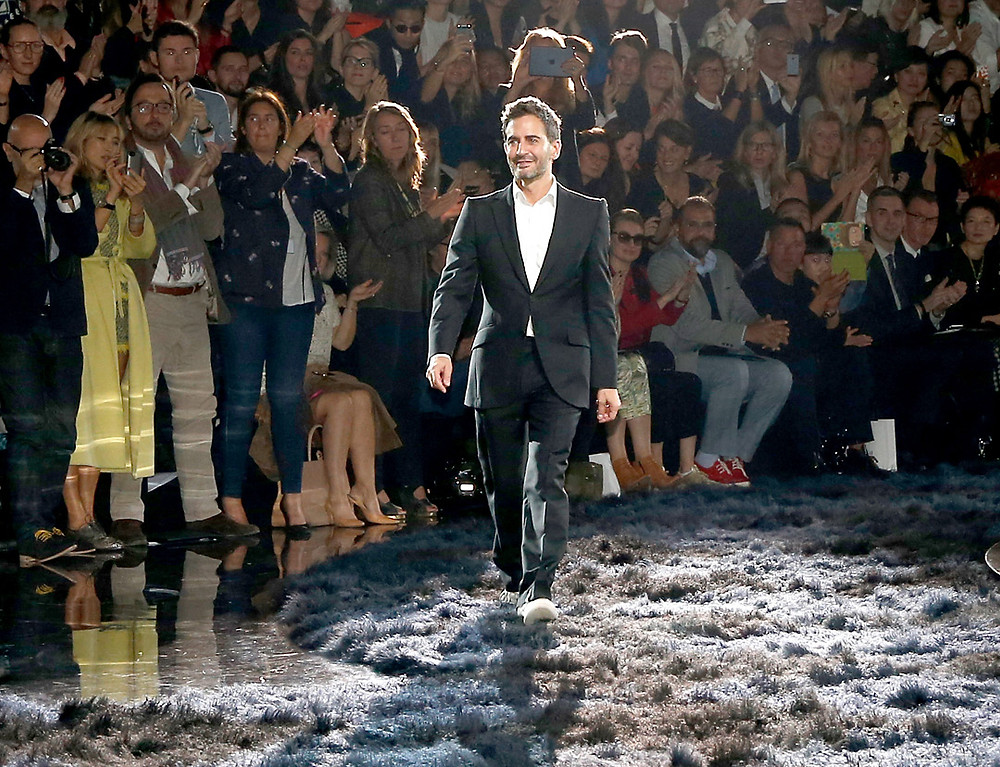 Marc Jacobs at Louis Vuitton fashion show in 2013