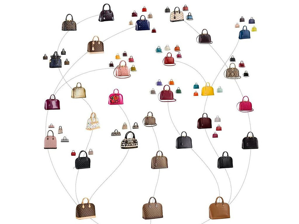 Evolution of the Louis Vuitton Alma  bag