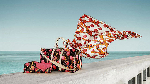 LV Keepall Luxe tropical accessories - Summer 2015