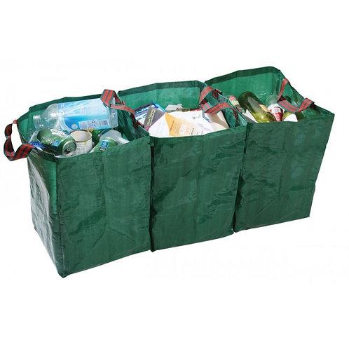 3 resirkulering- og lagringsposer med borrelås