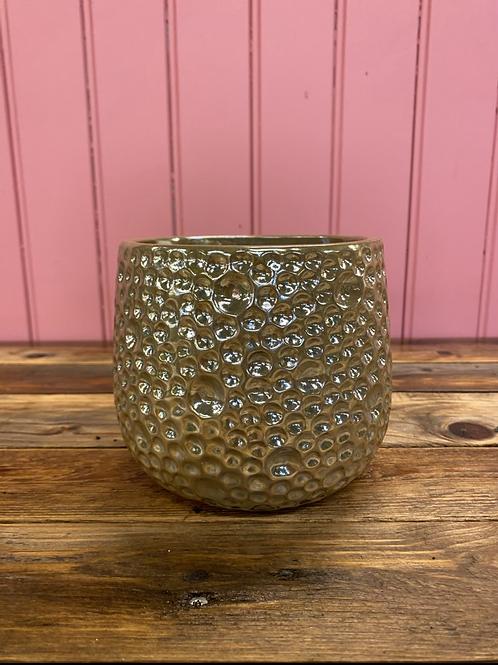 Potteskjuler gold bubbles 13x13cm