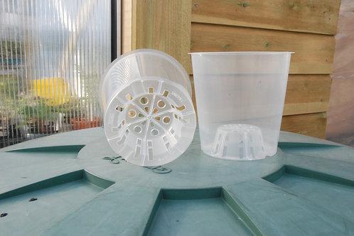 Plastpotte, gjennomsiktig, 12 cm