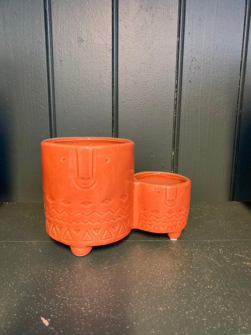 Potteskjuler family orange 10x10cm