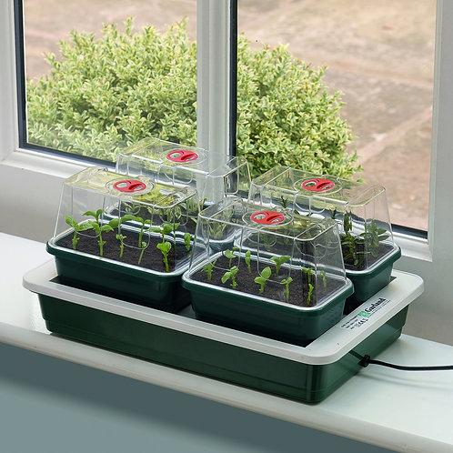 Minidrivhussett med undervarme (4 minidrivhus)
