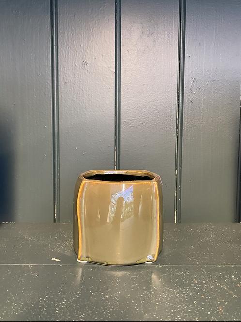 Potteskjuler bendt square liten, 8.5x9cm