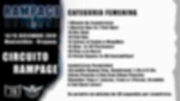 RAMPAGE 2020 Flyer CIRCUITO RAMPAGE FEME