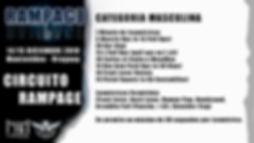 RAMPAGE 2020 Flyer CIRCUITO RAMPAGE MASC