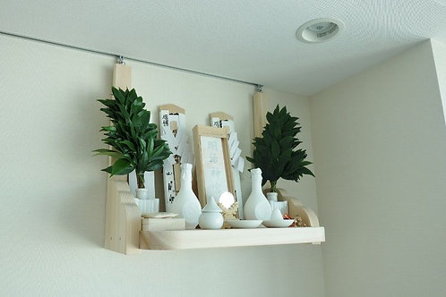45cmの神棚板+雲形支柱