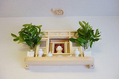 奥行20cm神棚板+箱宮