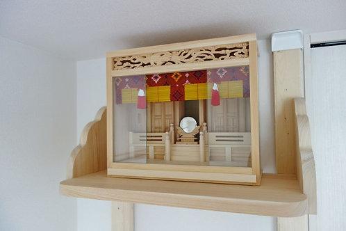 70cm神棚板+雲板+箱宮