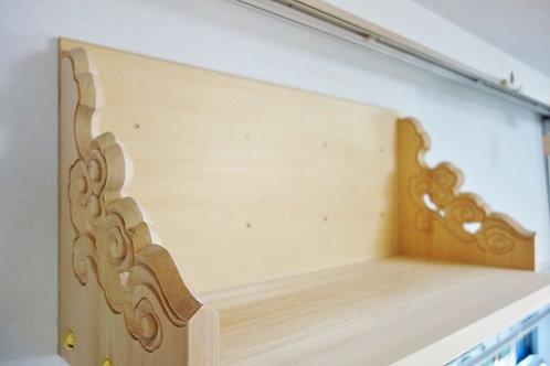 75cm雲上等彫り神棚板+鳳翔一社(木曽桧)