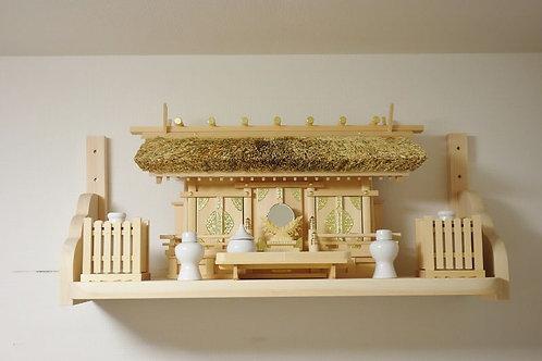 90cm神棚板(雲形支柱セット)