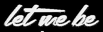 Logotipo Let me be (blanco).png