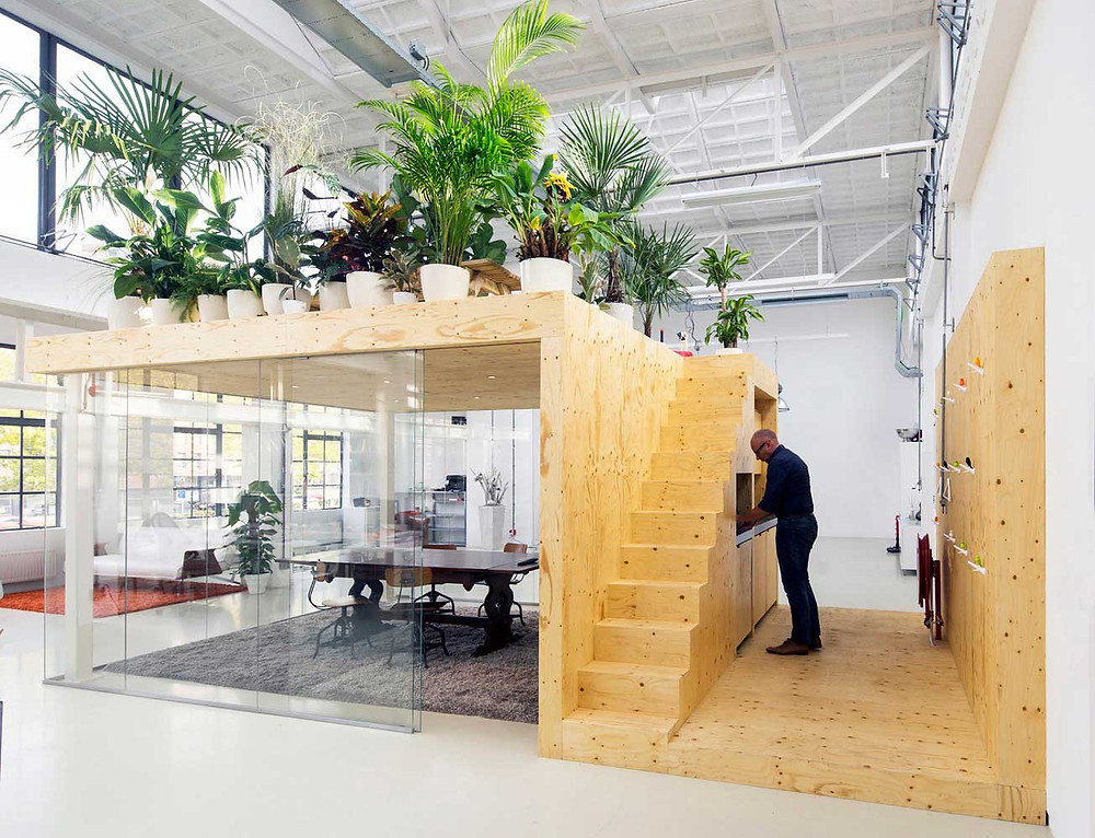 Workspace design loft office in Rotterdam