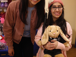 Building Bears and Building Friendships: Sighted and Visually Impaired Kids team up at Build a Bear