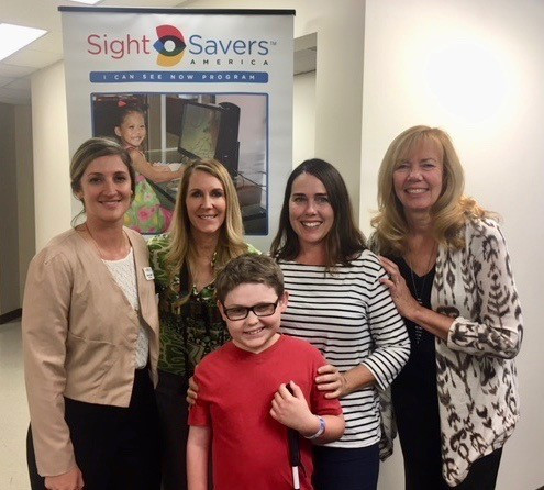 Michelle Litttleton, SSA Grants Manager, Tori Schladen, PPV Executive Director, Cade Spinello and his mother Erin, Beth Moore, PPV Family Specialist.
