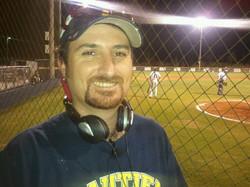 Chris_calling_Gautier_Bseball_Game