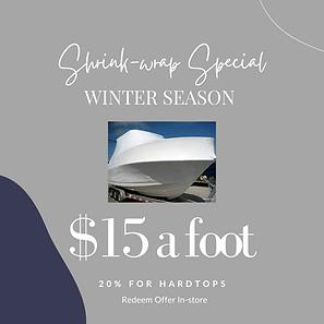 Shrinkwrap special for the winter season.