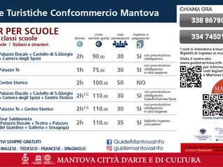 TARIFFE VISITE GUIDATE MANTOVA SCUOLE ANNO 2019