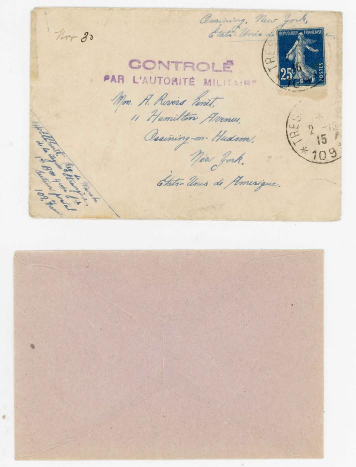 Genet Letter Envelope and Internal Envel