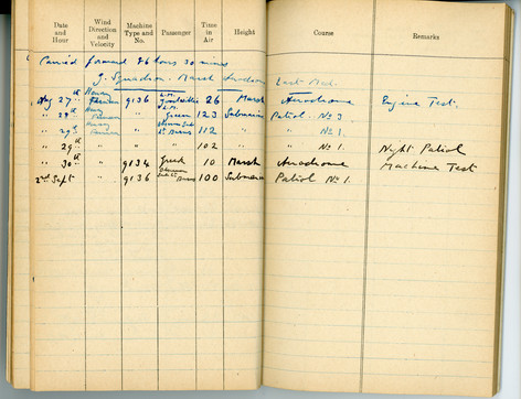 Last page of logbook