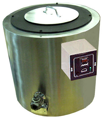 Model MS 250 shown with drain valve, pot cover, and mounted thermostat.