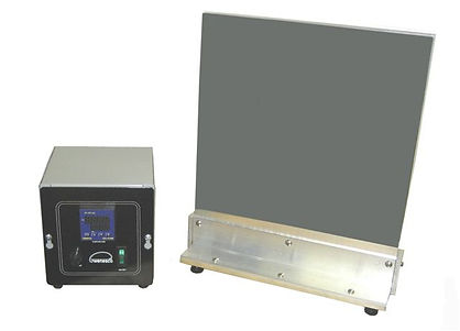 "(Above) Model BF1212 aluminum hot plate has dual 12x12"" heated surfaces.  The surfaces are furnished plain or Teflon coated. Temperature is controlled with a remote digital thermostat. This model operates at 3600W, 240Vsingle phase"