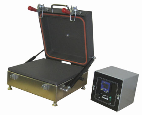 "Model HP99VAC This 9X9"" hot plate features an insulated hood ready for connection to your vacuum pump.  The hood is designed to hold a vacuum up to -25 PSI (1.72 bar)"