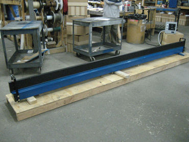 (Above) Butt Fusion Hot Plate, 144 x 5 inches. The plate is controlled with an accurate remote digital thermostat. Surface uniformity is held to 2% of set point.