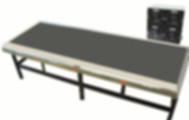Uniform Bonding Table, 36 x 144 inches, controlled in 4 zones with digital thermostats.  The 2 % uniformity area measure 24 x 120 inches.