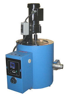 Model MU5  A 5-gallon melter shown with  optional STR60AA stirrer. This model is widely used for melting plastisols.