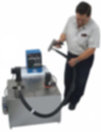 (Above) Model MPV15A shown with optional stirrer and remote control. Size increased to 20 GAL to accommodate stirrer.