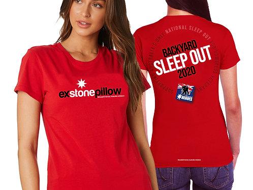 Backyard Sleepout Red T / Shirt - Womens