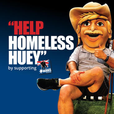 """Geelong to Byron """"SUPPORT Homeless Huey"""""""