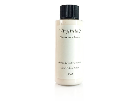 GOVERNESS'S ORGANIC TRAVEL LOTION