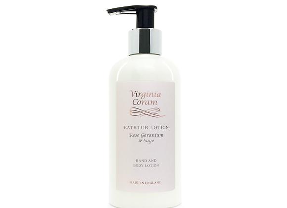 BATHTUB HAND & BODY LOTION | ROSE GERANIUM & SAGE