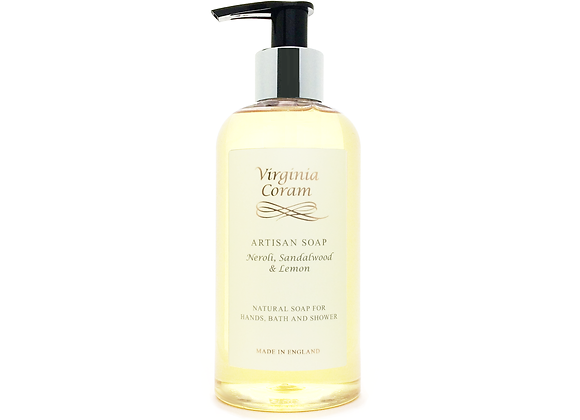ARTISAN NATURAL LIQUID SOAP | NEROLI, SANDALWOOD & LEMON