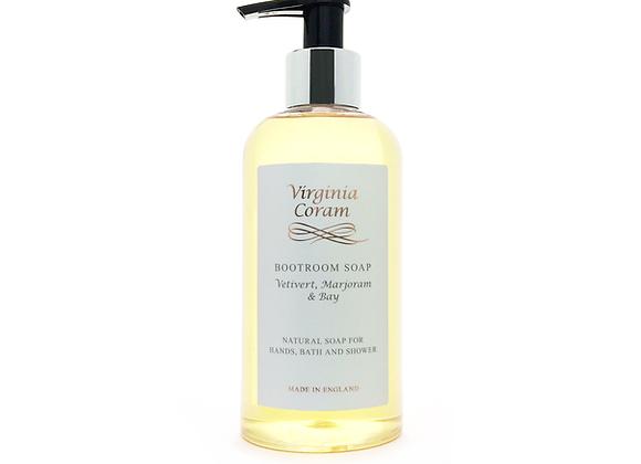 BOOTROOM NATURAL LIQUID SOAP | VETIVERT, MARJORAM & BAY