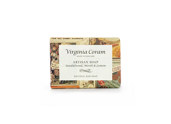 ARTISAN NATURAL BAR SOAP | NEROLI, SANDALWOOD & LEMON