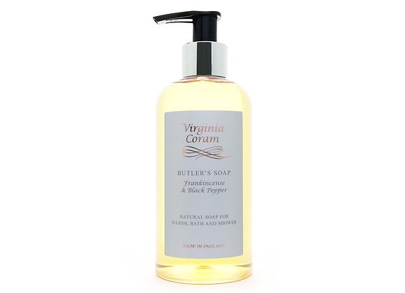 BUTLER'S NATURAL LIQUID SOAP | FRANKINCENSE & BLACK PEPPER