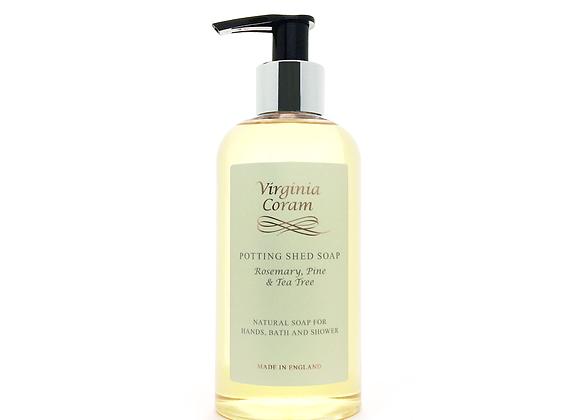 POTTING SHED NATURAL LIQUID SOAP | ROSEMARY, PINE & TEA TREE