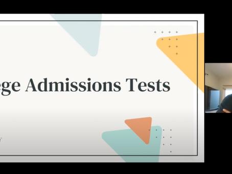 Webinar: College Testing